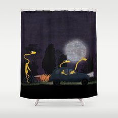 Voyage by night II (animal party) Shower Curtain