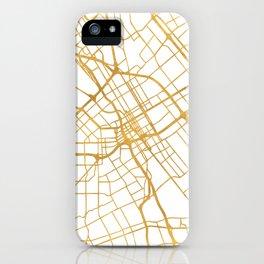 SAN JOSE CALIFORNIA CITY STREET MAP ART iPhone Case
