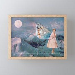 Becoming (A Butterfly) Framed Mini Art Print