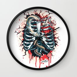 A Wounded Heart Wall Clock