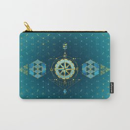 Decorative Sacred Geometry Compass Carry-All Pouch