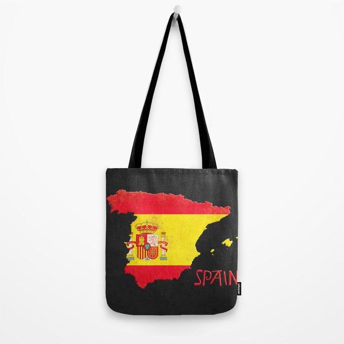 Spain Vintage Map Tote Bag