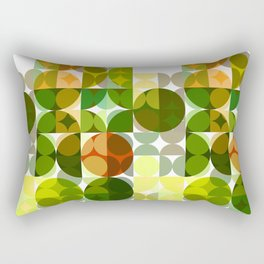 Cactus Garden Abstract Circles 3 Rectangular Pillow