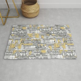 Paris toile gold Rug