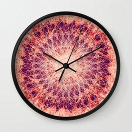 Apricot Mandala Wall Clock