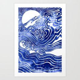 Churn The Deep Art Print