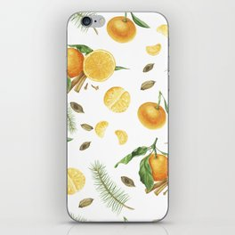 Tangerines, spices and branches of tree iPhone Skin