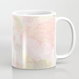 Watercolor Pink Floral Background Coffee Mug