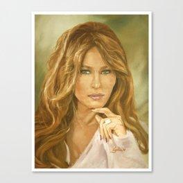 Oil Painting of Flotus, Melania Trump by Lydia Sturges Canvas Print