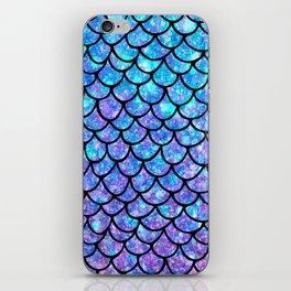 Purples & Blues Mermaid scales iPhone Skin