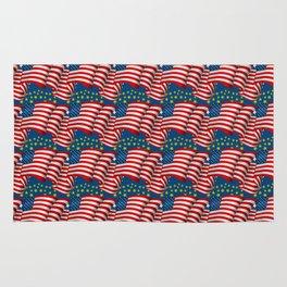American Flag Pattern Rug