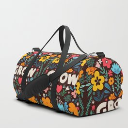 GROW floral Duffle Bag
