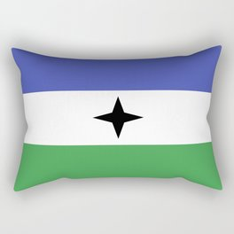 Bubi Bantu people ethnic flag cameroon africa Rectangular Pillow