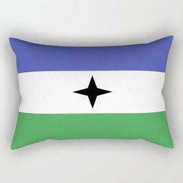 Bubi Bantu people ethnic flag cameroon africa Rectangular Pillow