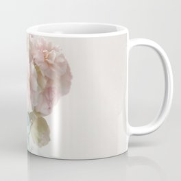 pink roses in blue jar Coffee Mug