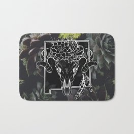 Skull and Succulants Bath Mat