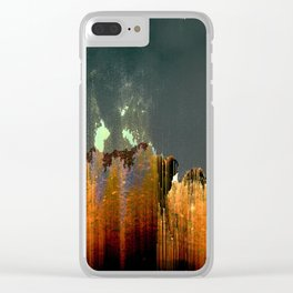 GLITCH 5452 Clear iPhone Case