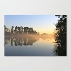 Misty Lake in Color Canvas Print