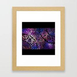 Calligram Nebula 2 Framed Art Print