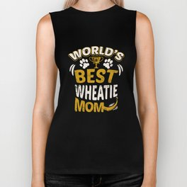 World's Best Wheatie Mom Biker Tank