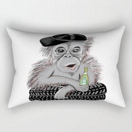 Monkey with beer Rectangular Pillow