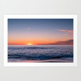A Magical Sunset Laguna Beach, California Art Print