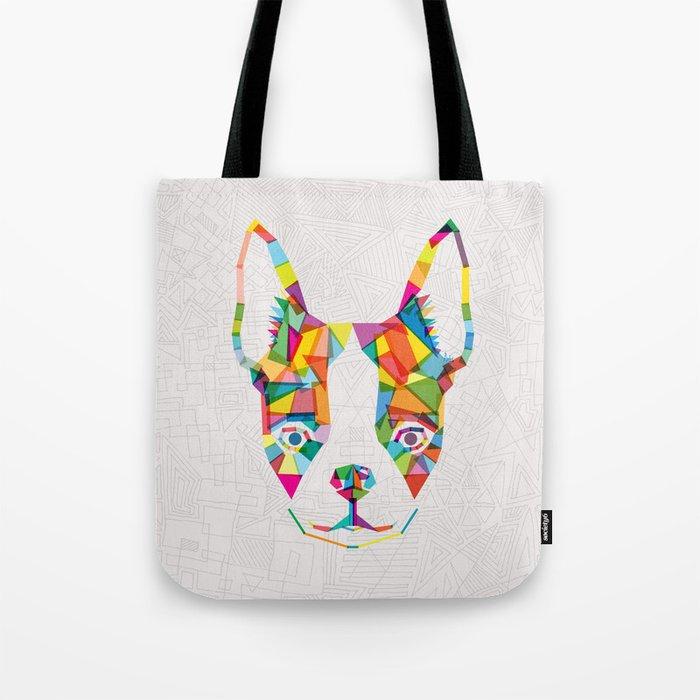 Rainbow Bulldog Tote Bag