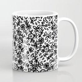 Black little flowers Coffee Mug