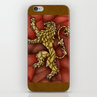 lannister iPhone & iPod Skins featuring House Lannister Stained Glass by itsamoose