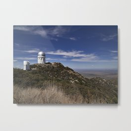 Some of several observatory buildings at the Kitt Peak National Observatory in the Quinlan Mountains Metal Print