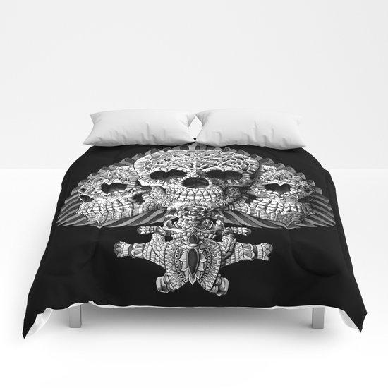 Skull Spade Comforters