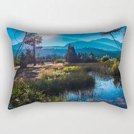 Tahoe Mountains Rectangular Pillow