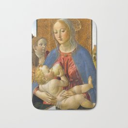 Cosimo Rosselli Madonna and Child with the Young Saint John the Baptist Bath Mat
