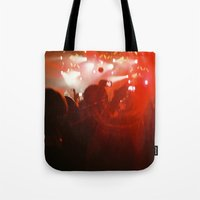 concert Tote Bags featuring concert by Alexandra Bauer