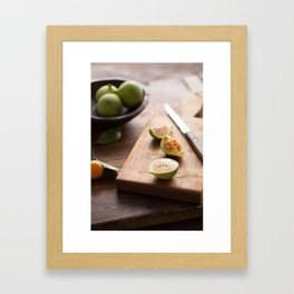 Fresh Figs Framed Art Print