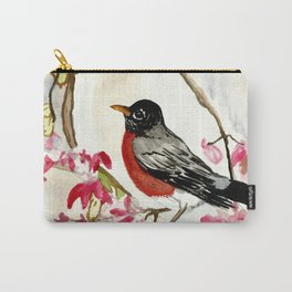 Frosty Robin Carry-All Pouch