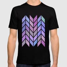 blue & purple chevron T-shirt