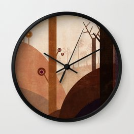 African lanscape Wall Clock