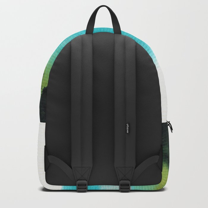 Watercolor abstract landscape 15 Backpack