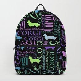 Corgi Word Art Backpack
