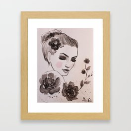 Rose Lady Framed Art Print