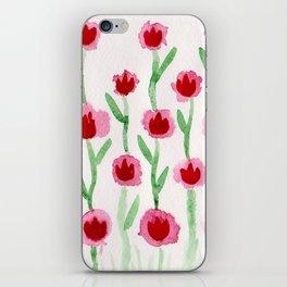 Red tulip iPhone Skin