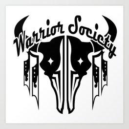 Warrior Society (Buffalo Black) Art Print