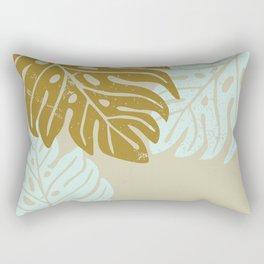 Hawaiian leaves pattern N0 3, Art Print collection, illustration original pop art graphic print Rectangular Pillow