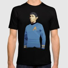 Polygon Heroes - Spock Mens Fitted Tee X-LARGE Black