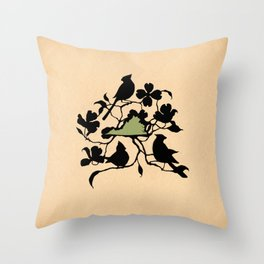 Virginia - State Papercut Print Throw Pillow