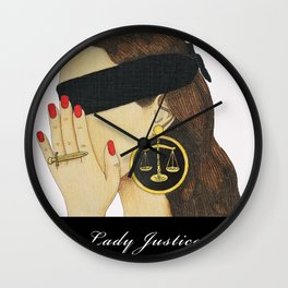 Lady Justice Wall Clock