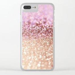 Mermaid Rose Gold Blush Glitter Clear iPhone Case