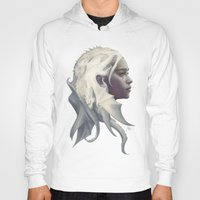 dude Hoodies featuring Mother of Dragons by Artgerm™