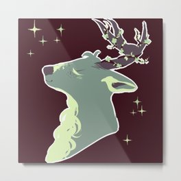 Mint Chip Deer Metal Print